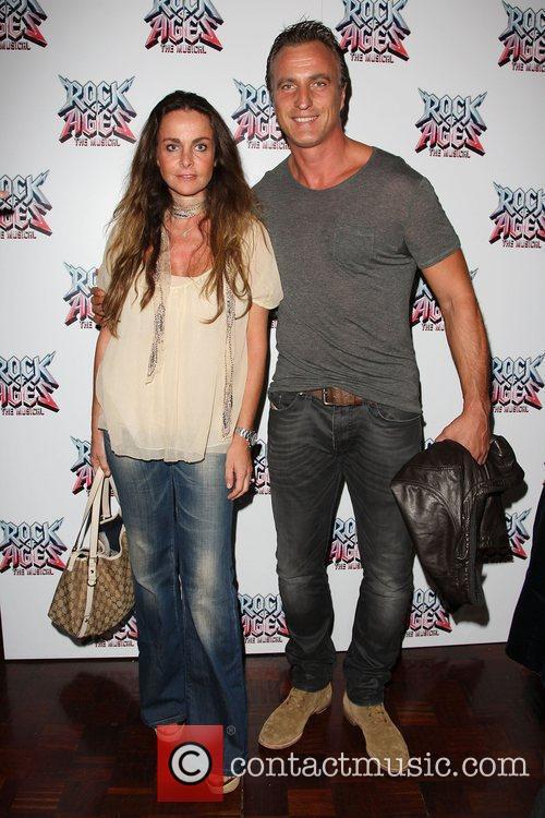 David Ginola with his wife Caroline Rock of...