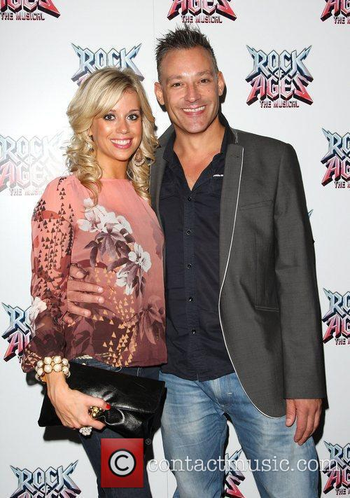 Toby Anstis and girlfriend Rock of Ages the...