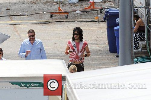 On the film set of 'Rock of Ages'