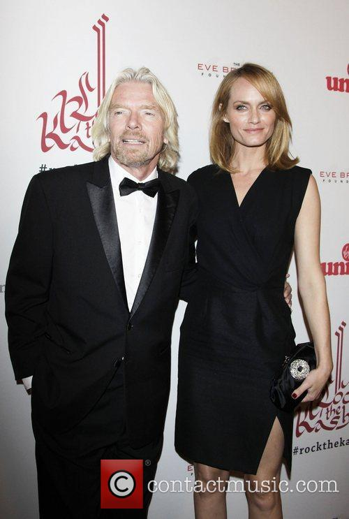 Richard Branson and Amber Valletta 4