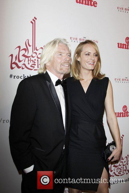 Richard Branson and Amber Valletta 3