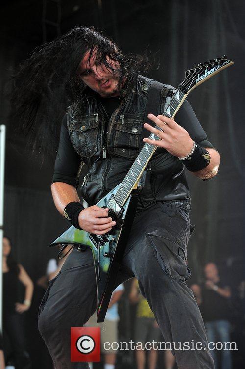 Corey Beaulieu Trivium performs at the Rockstar Energy...