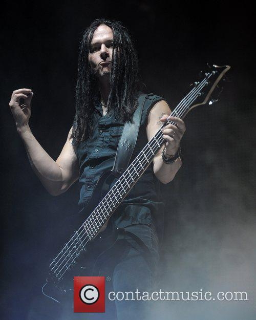 John Moyer Disturbed performs at the Rockstar Energy...