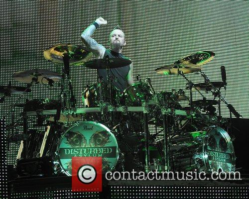 Mike Wengren Disturbed performs at the Rockstar Energy...