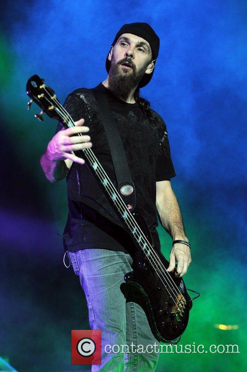 Robbie Merrill Godsmack performs at the Rockstar Energy...