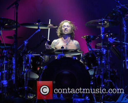 Shannon Larkin Godsmack performs at the Rockstar Energy...