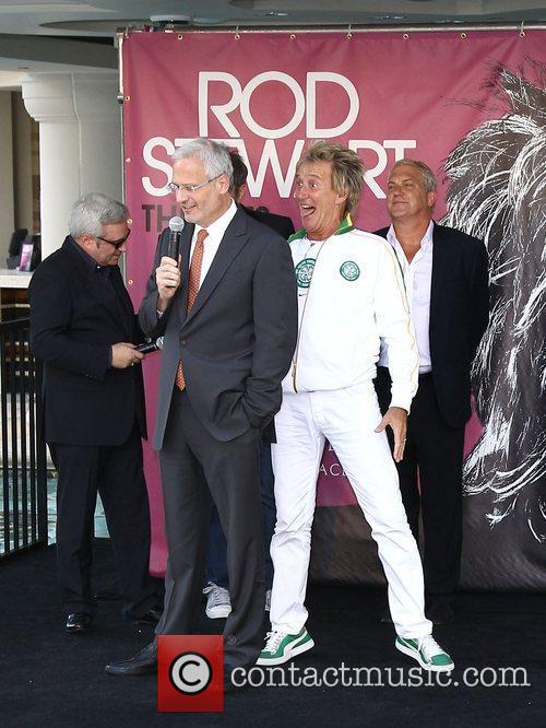 Gary Selesner and Rod Stewart Caesars Palace officially...