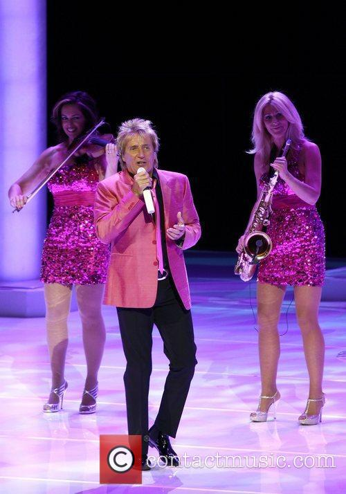 Rod Stewart performs live at Caesars Palace as...
