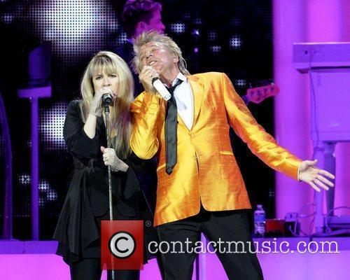 Rod Stewart and Stevie Nicks  performing on...
