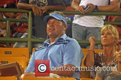 Roger Clemens at the season opener of the...