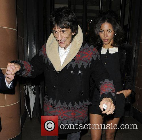 Ronnie Wood and Ana Araujo Ronnie Wood using...
