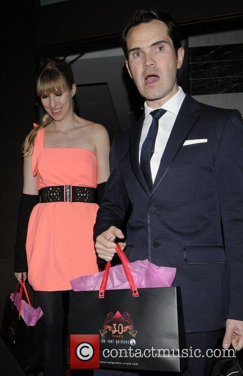 Jimmy Carr and his girlfriend leaving the 30th...