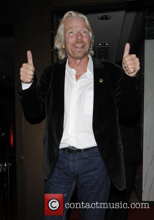 Richard Branson leaving the 30th Anniversary of The...