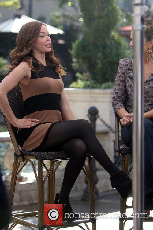 Rose McGowan at The Grove to film an...