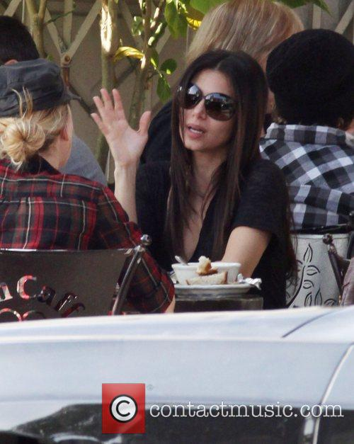A camera shy Roselyn Sanchez, having lunch with...
