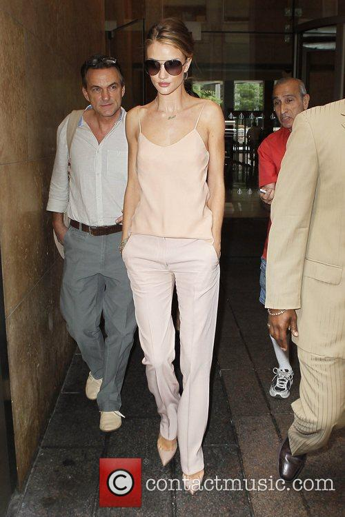 Rosie Huntington  outside Sirius Radio after appearing...