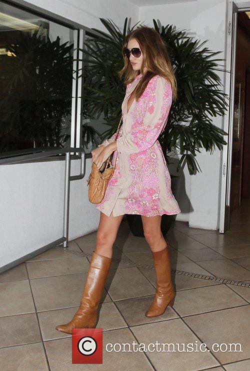Rosie Huntington-Whiteley is seen leaving E Baldi restaurant...