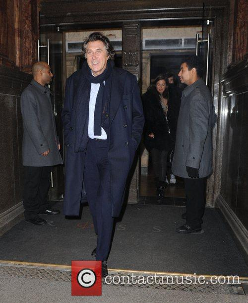Brian Ferry and girlfriend Amanda Sheppard leaving Rosso...