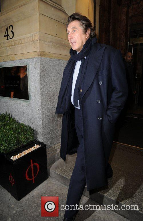 Brian Ferry leaving Rosso restaurant Manchester, England