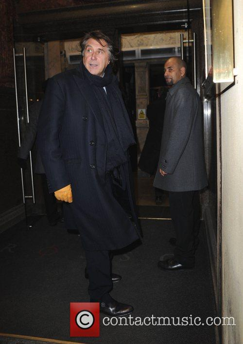 Brian Ferry arriving at Rosso restaurant Manchester, England
