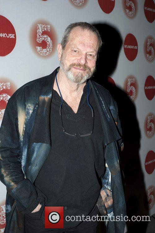 Terry Gilliam arrives at the Roundhouse 5th Birthday...