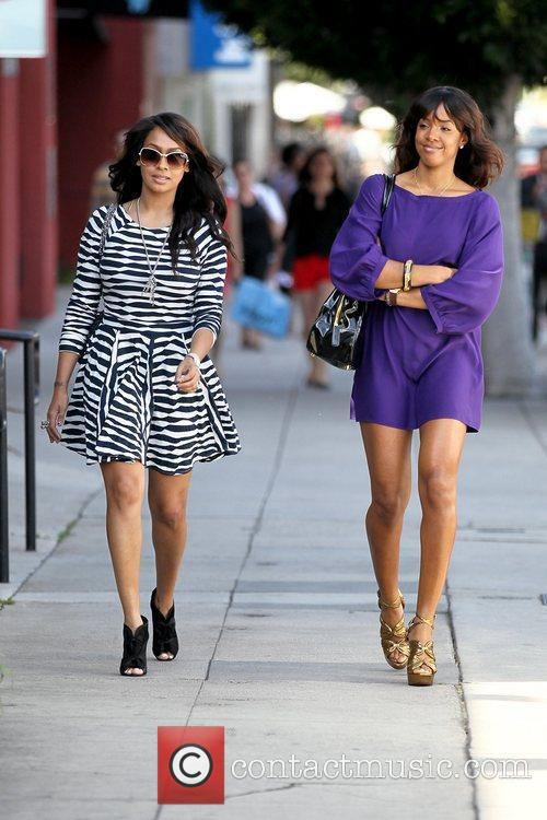 LaLa Vazquez and Kelly Rowland filming a reality...