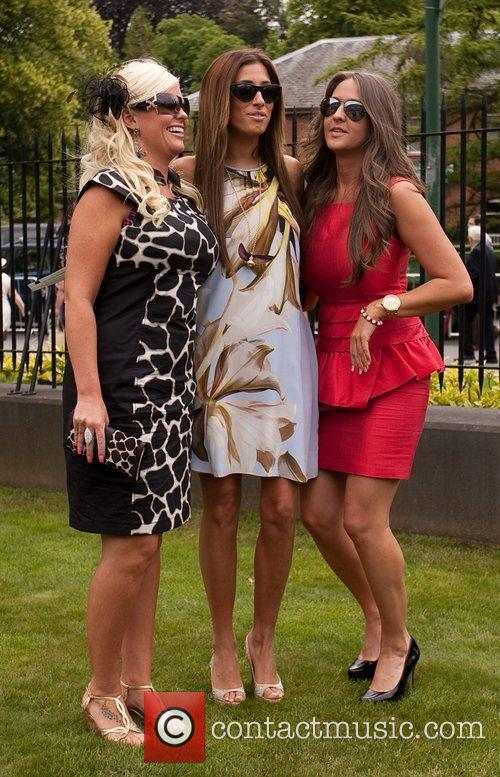 Stacey Solomon and friends Royal Ascot at Ascot...