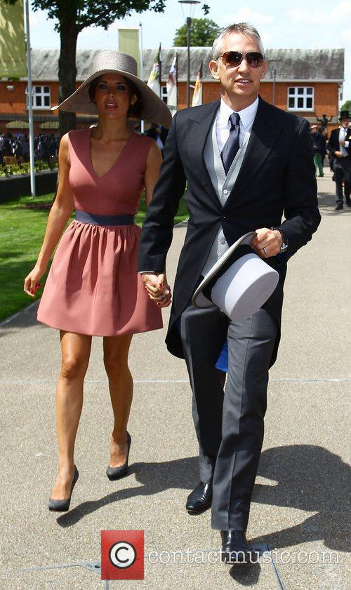 Gary Lineker and Danielle Lineker Royal Ascot at...