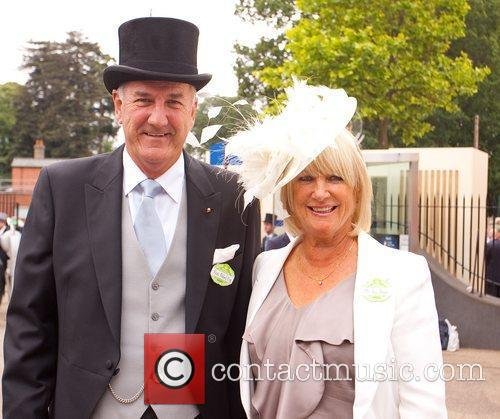 Russ Abbott and wife Royal Ascot at Ascot...