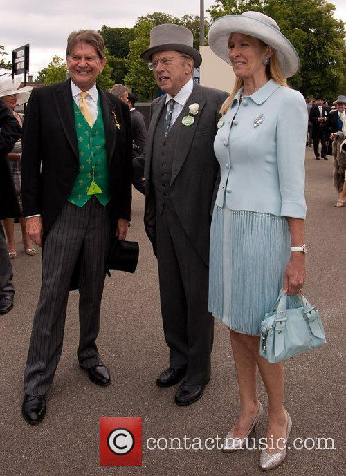 Sir David Frost and wife with Sir John...