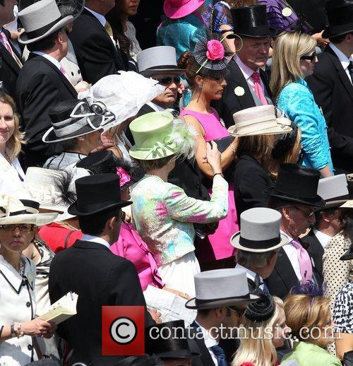 Atmosphere Women showing off their hats at Royal...
