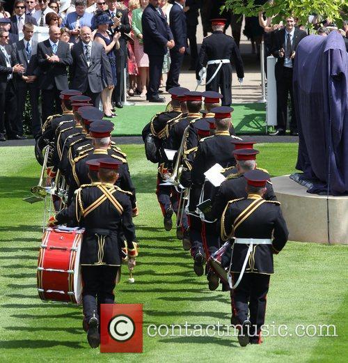 Band on parade Royal Ascot at Ascot Racecourse...