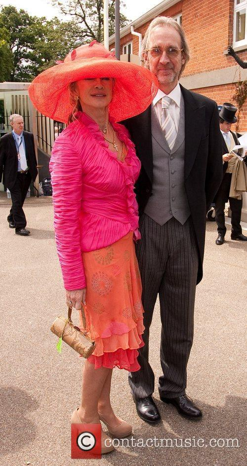 Mike Rutherford and wife Royal Ascot at Ascot...