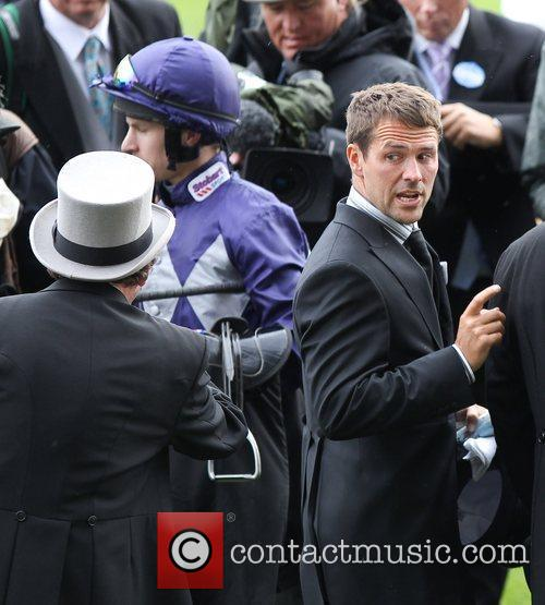 Michael Owen with his winning horse Brown Panther...