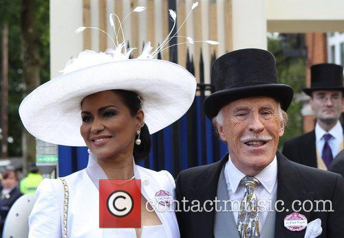 Bruce Forsyth and his wife Wilnelia  Royal...