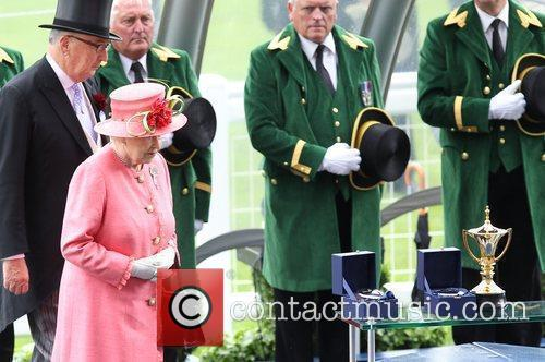 Queen Elizabeth II presenting the Gold Cup Royal...