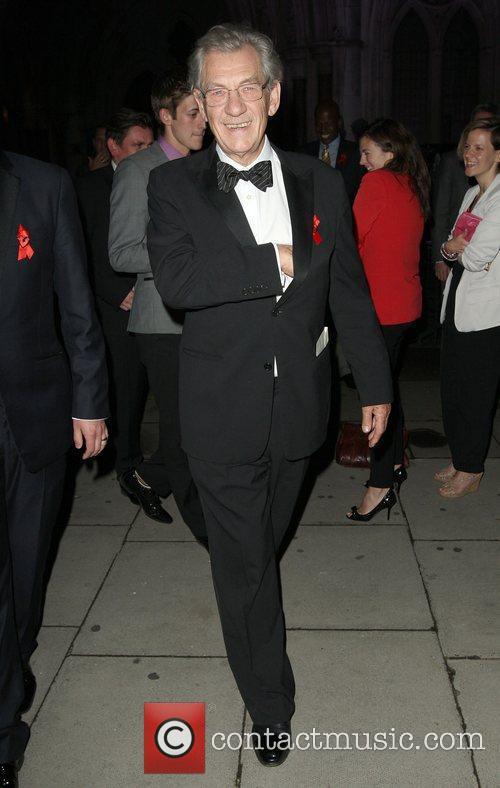 Sir Ian McKellen,  at the Terrence Higgins...
