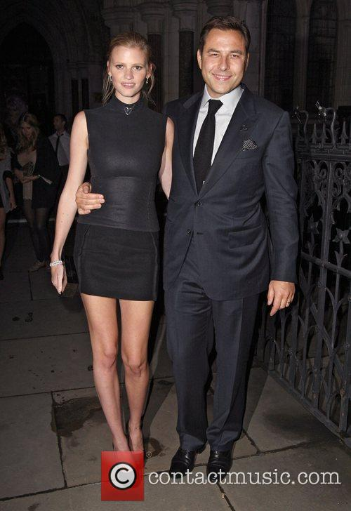 Lara Stone and David Walliams 2