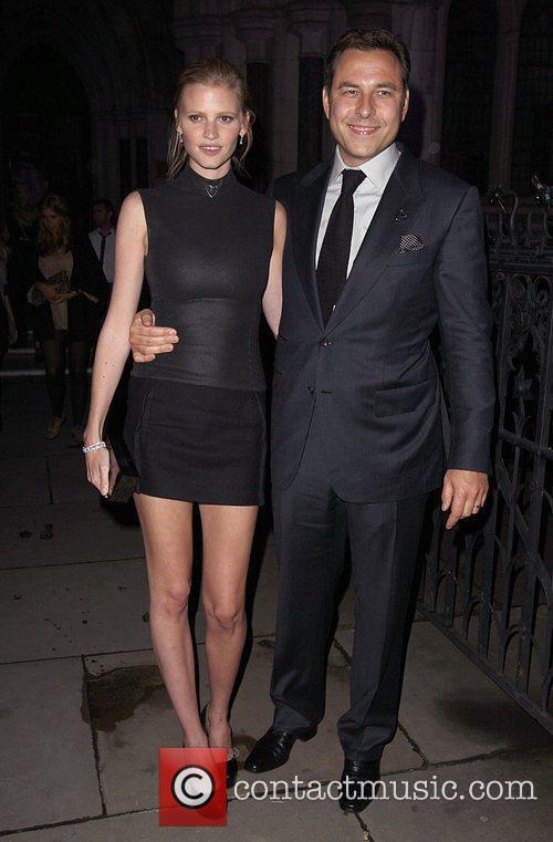 Lara Stone and David Walliams 3