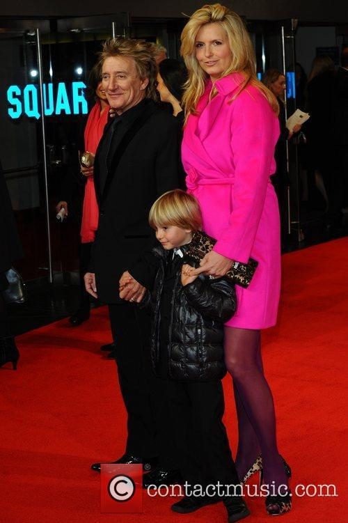 Rod Stewart, Alastair Wallace, Penny Lancaster and Odeon Leicester Square