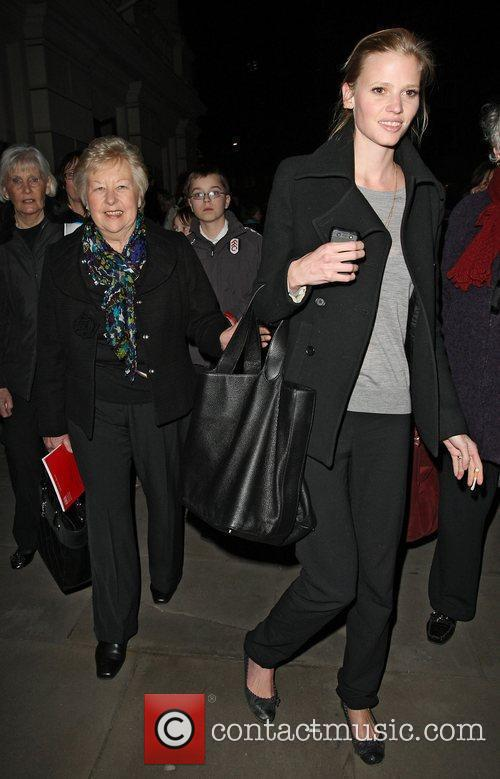 Lara Stone and her mother-in-law, Kathleen Walliams leave...