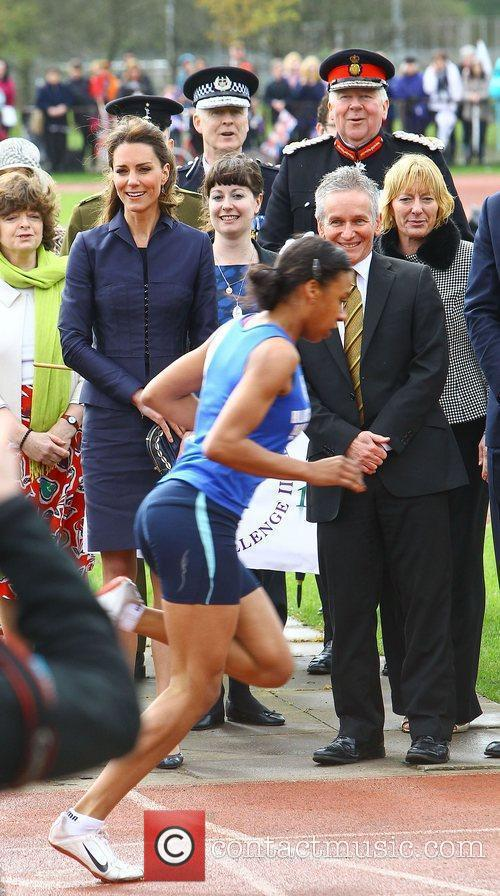 Kate Middleton visits Witton Country Park, Lancashire, and...