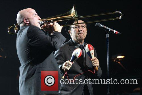 Ruben Blades (R) performs at the James L....