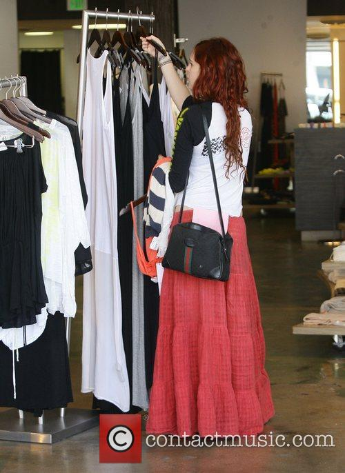 Rumer Willis shops in Beverly Hills with her...
