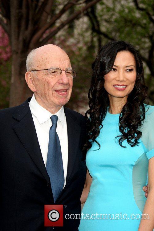 Rupert Murdoch and his wife, Wendi Deng at...