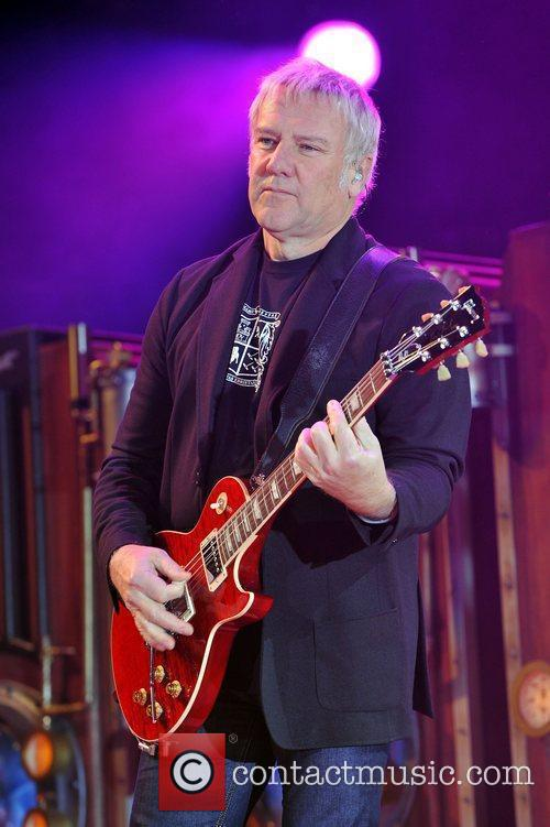Alex Lifeson of Rush perform live in concert...
