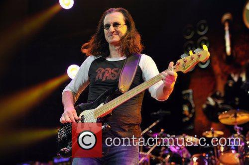 Geddy Lee of Rush perform live in concert...