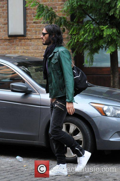 Russell Brand out and about in New York...