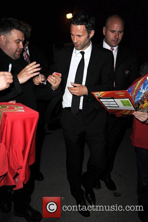 Ryan Giggs leaves Old Trafford after Manchester United...