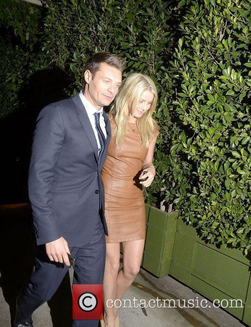 Ryan Seacrest and Julianne Hough  leaving Ago...